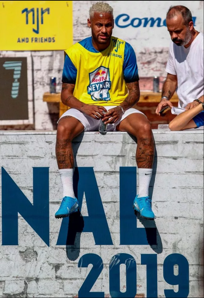 PSG contract rebel Neymar plays in his own charity tournament just a week after missing the Copa America - Bóng Đá