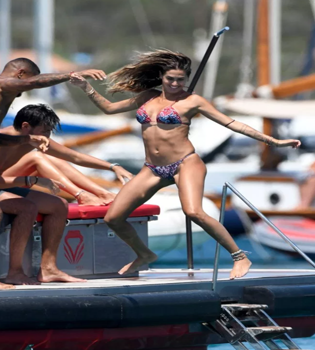 Kevin-Prince Boateng and stunning bikini-clad wife Melissa Satta put split rumours behind them on romantic break in Sardinia - Bóng Đá
