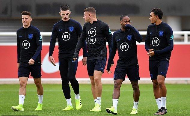 Ảnh đội tuyển Anh tập (Daily Mail) - Bóng Đá