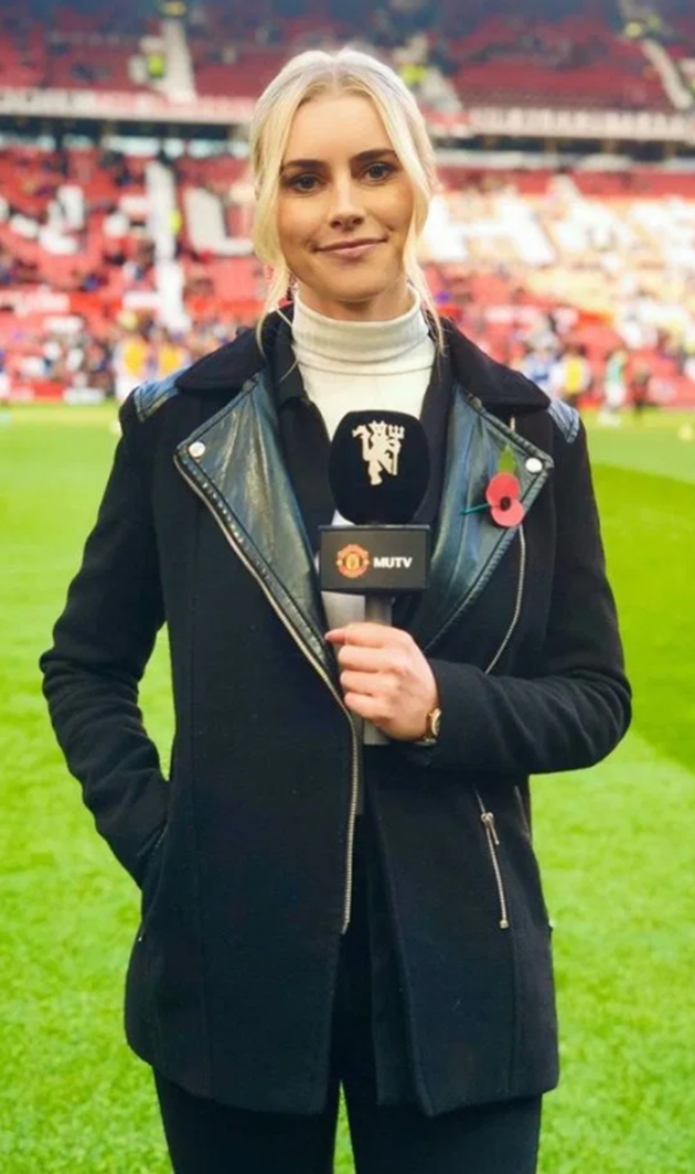 Meet Man Utd's newest reporter Kirsty Shelts who modelled lingerie for ex-footballer's clothing range before MUTV job - Bóng Đá