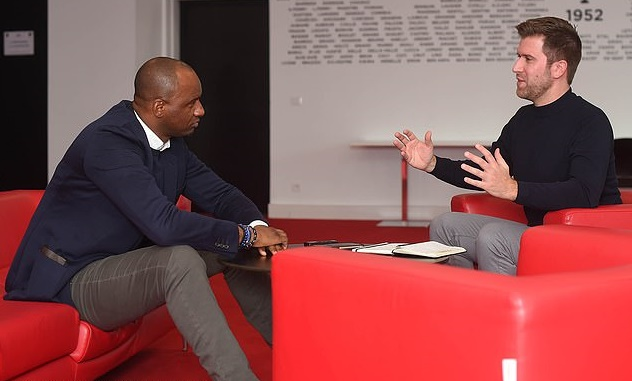 Patrick Vieira reveals he did NOT want the Arsenal job as he loves life in Nice - Bóng Đá