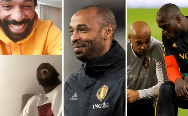 Romelu Lukaku reveals Thierry Henry embarrassed Belgium teammate in training so much he left the pitch - Bóng Đá