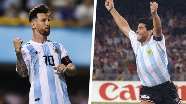 Maradona talked a lot on pitch but you never saw Messi shouting - Aguirre - Bóng Đá