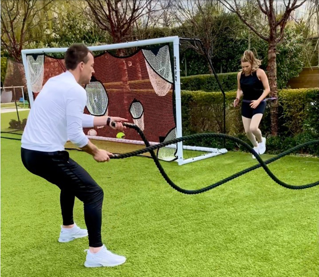 Wags working out during lockdown include Cristiano Ronaldo's partner Georgina, Kate Ferdinand and Toni Terry - Bóng Đá