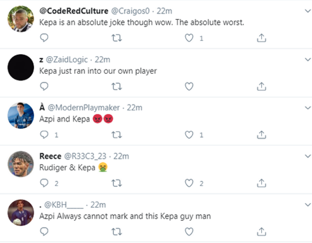 'Embarrassing!' - Angry Chelsea fans noticed what Kepa Arrizabalaga did against West Ham - Bóng Đá