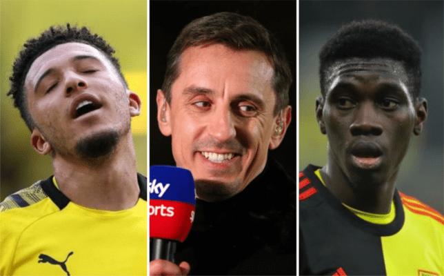 Gary Neville suggests Manchester United should sign Ismaila Sarr as Jadon Sancho alternative - Bóng Đá