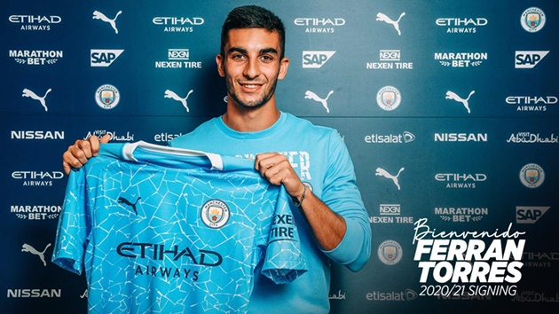 Man City sign Ferran Torres from Valencia in €23m deal - Bóng Đá