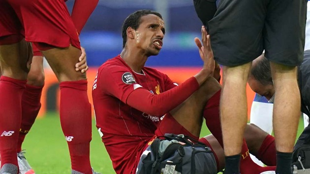Liverpool dealt injury blow with Matip set to miss at least three weeks - Bóng Đá