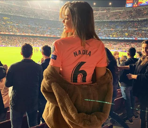 Arsenal flop Denis Suarez's stunning girlfriend Nadia Aviles is a model who used to date Zinedine Zidane's son Enzo - Bóng Đá