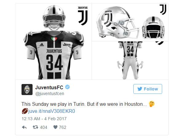 Juventus đem logo 'thảm họa' tấn công giải Super Bowl