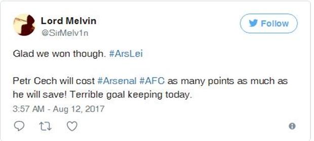 Fan Arsenal đòi tống cổ Cech sau màn xuất quân tệ hại - Bóng Đá