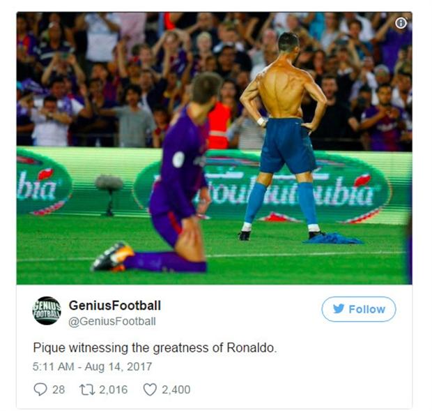 Ronaldo khoe áo 'phản đòn' Messi, fan Real nói gì? - Bóng Đá