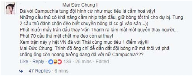 Thắng Campuchia, có đáng để mừng? - Bóng Đá