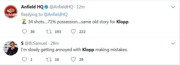 CĐV Liverpool đã ngán Klopp tới tận cổ - Bóng Đá