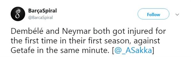 Sự trùng hợp đáng sợ từ chấn thương của Dembele và Neymar - Bóng Đá