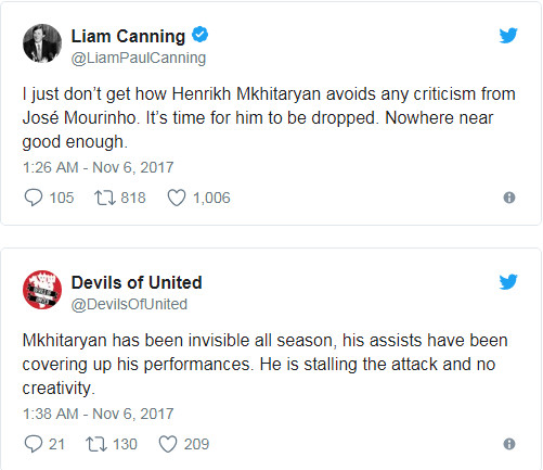 Đã đến lúc loại Mkhitaryan khỏi đội hình của Man Utd? - Bóng Đá