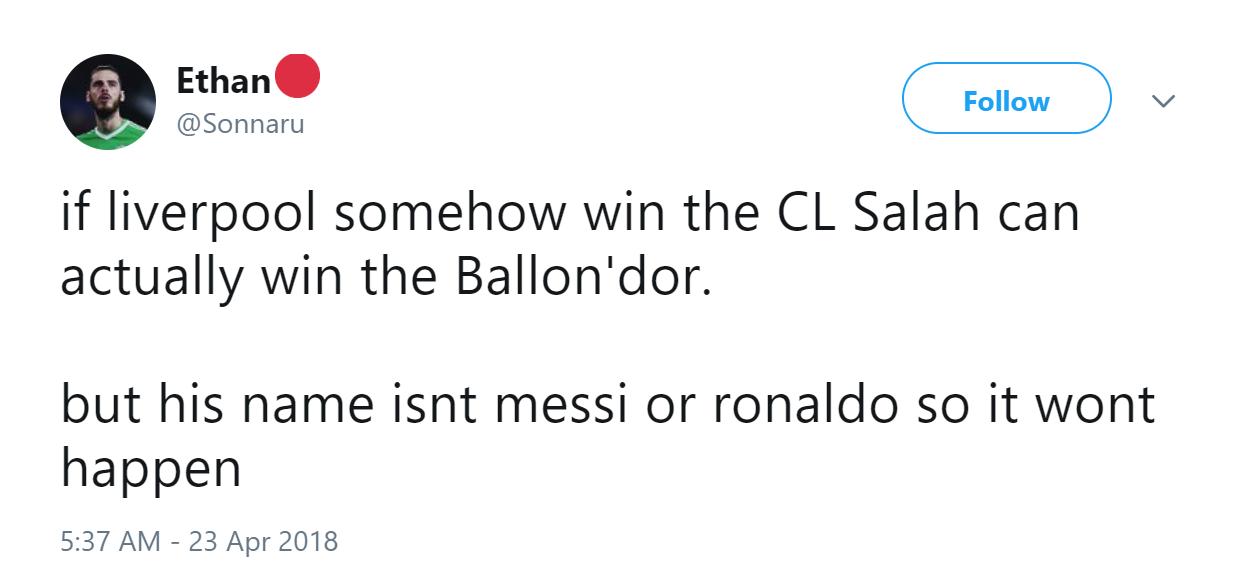 Có vô địch Champions League thì Salah cũng thể giành QBV - Bóng Đá