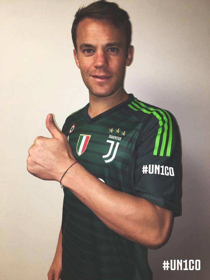Neuer bất ngờ khoe ảnh khoác áo Juventus - Bóng Đá