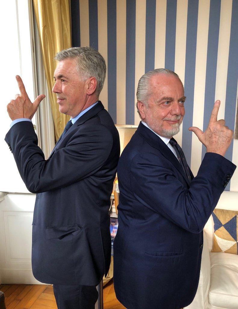 Chủ tịch De Laurentiis chào mừng Ancelotti đến với Napoli  - Bóng Đá