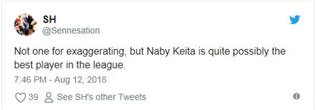 Mới 1 trận, Keita đã khiến CĐV Liverpool phát cuồng - Bóng Đá