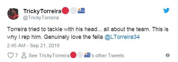 CĐV Arsenal choáng váng với pha cản phá bất chấp của Torreira - Bóng Đá