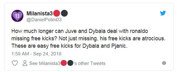 Ronaldo nhận đặc ân, fan Juventus giận sôi máu - Bóng Đá