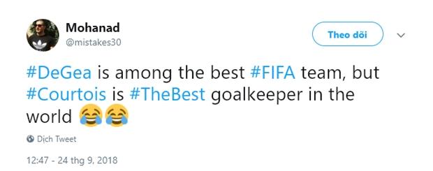 Courtois hạ bệ De Gea, trò hề của FIFA? - Bóng Đá