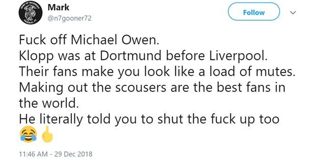 Michael Owen nhận gạch đá vì hỏi 'ngớ ngẩn' với Klopp - Bóng Đá