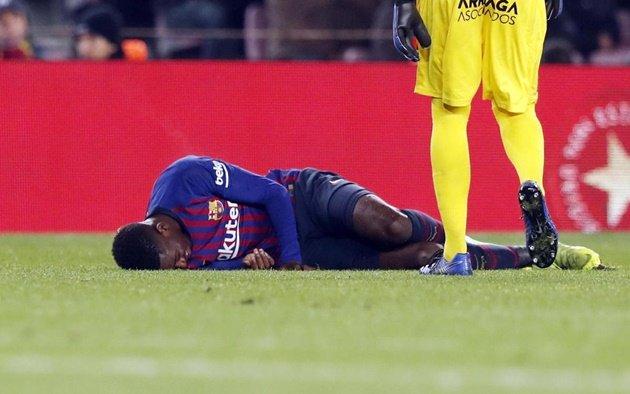 Lộ khoảng thời gian Dembele phải tạm chia tay Barcelona - Bóng Đá