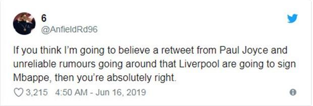 CĐV Liverpool rần rần khẩu chiến vì bức ảnh của Mbappe  - Bóng Đá