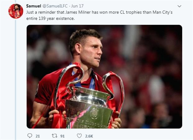 CĐV Liverpool và Man City đại chiến chỉ vì một bức ảnh - Bóng Đá