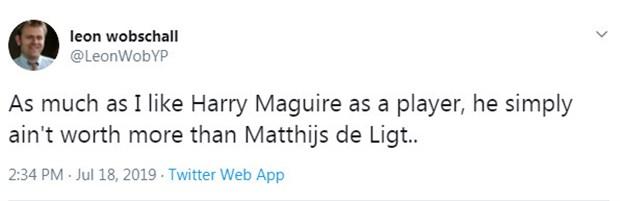 CĐV Man Utd tức điên vì De Ligt rẻ hơn Maguire - Bóng Đá