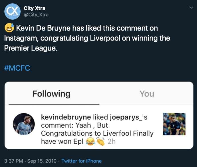 CĐV Liverpool phát hiện De Bruyne