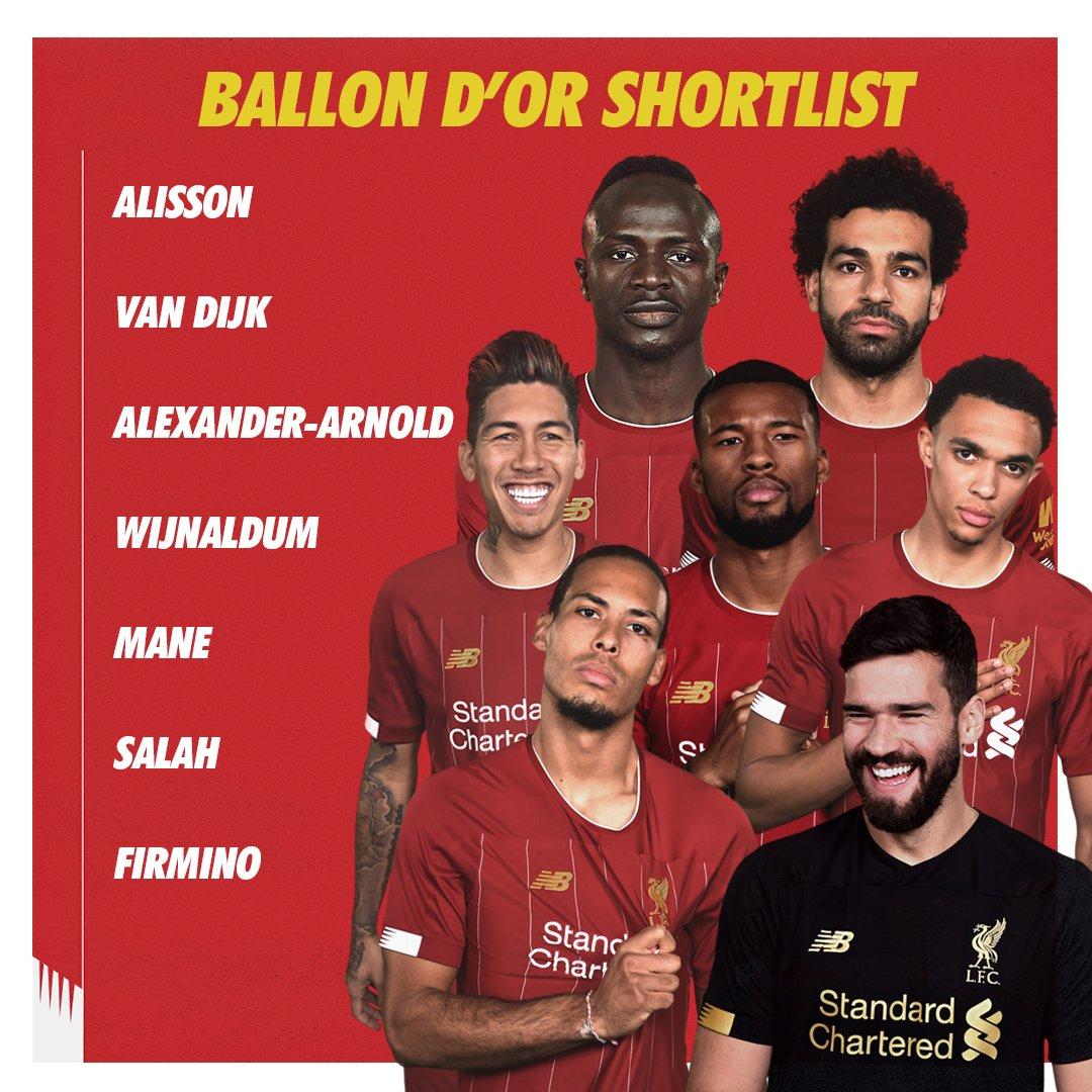 Góc Liverpool: Từ hạng 8, đến 7 ứng viên cho QBV - Bóng Đá