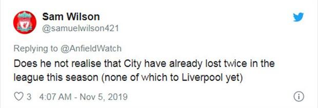 Bị Aguero xem thường, CĐV Liverpool nhắc lại