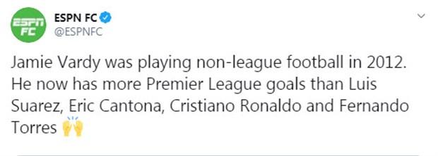 Những cái nhất của Vardy tại Premier League mùa này - Bóng Đá