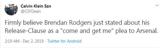 Tiết lộ bí mật, Brendan Rodgers đã