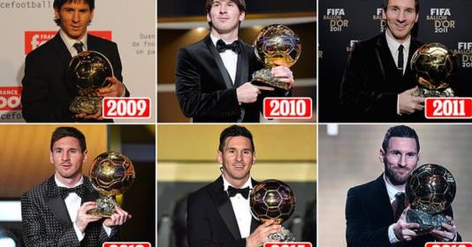 Messi làm được gì trong 6 năm giành danh hiệu QBV - Bóng Đá