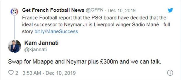 PSG muốn có Mane, CĐV Liverpool đã có giải pháp - Bóng Đá