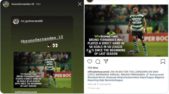 Chia sẻ trên trang cá nhân, Fernandes muốn đến Man Utd lắm rồi - Bóng Đá