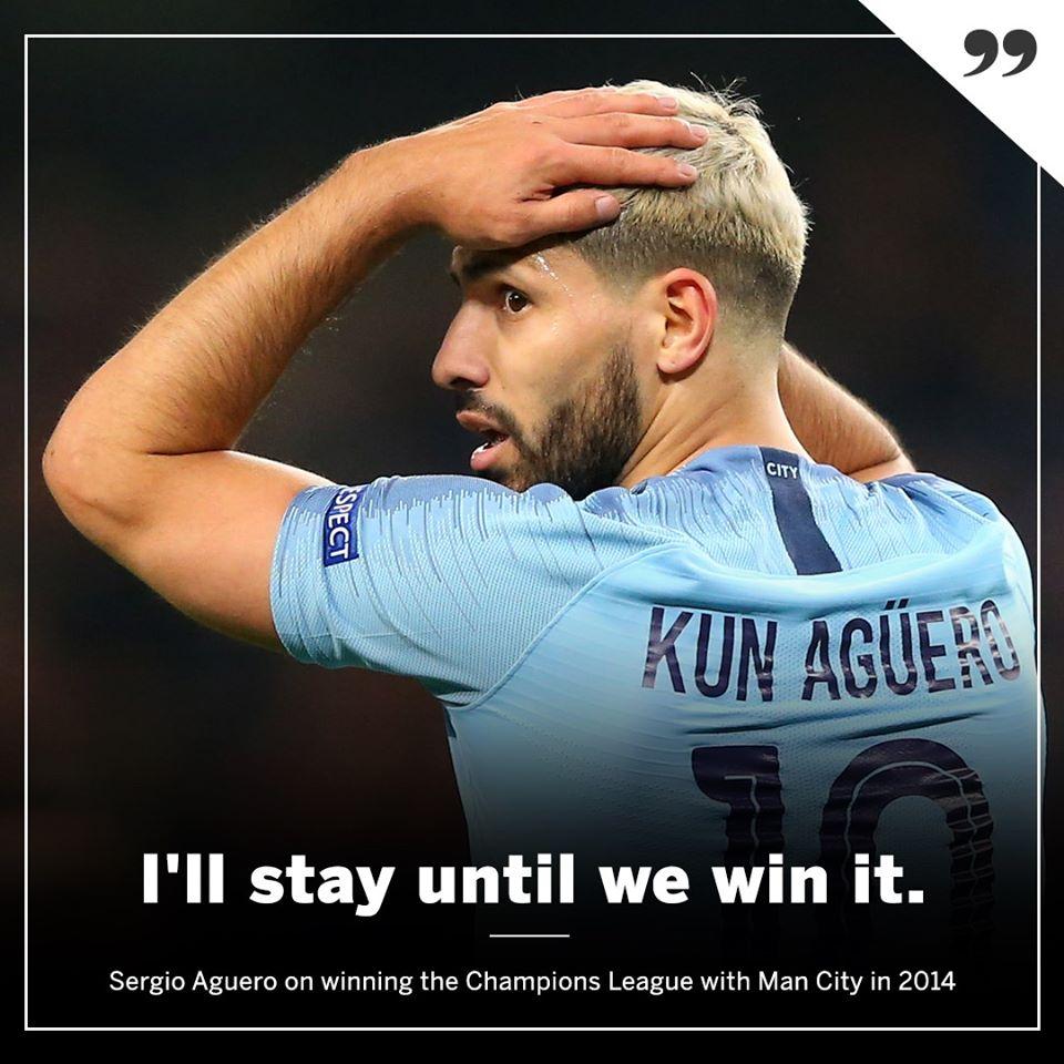 'Khó' cho Sergio Aguero! (I'm here till we win it) - Bóng Đá