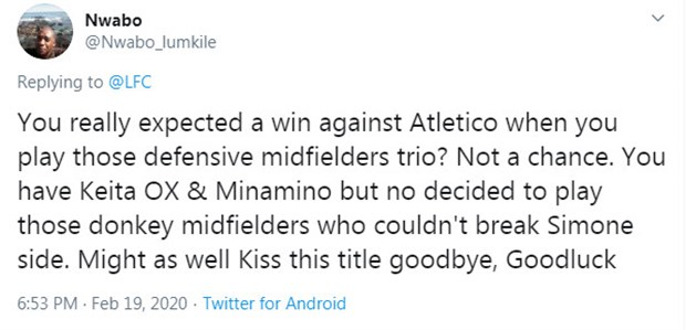 CĐV Liverpool chỉ ra điểm vô lý trong trận thua Atletico  - Bóng Đá