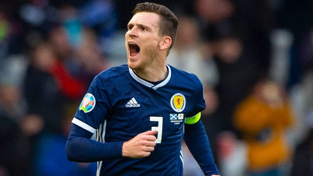 Liverpool face injury concern as Andy Robertson misses Scotland Euro 2020 qualifier - Bóng Đá