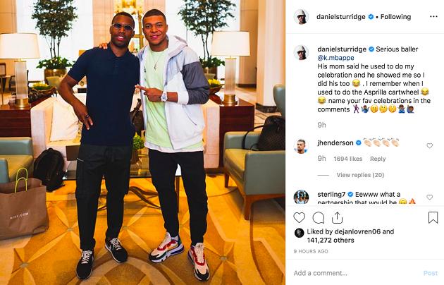 Man City star Raheem Sterling sends Kylian Mbappe message to departing Liverpool striker - Bóng Đá