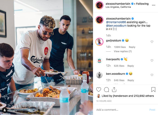 Ox nearly takes King of Social Media crown from Milner with latest Instagram post - Bóng Đá