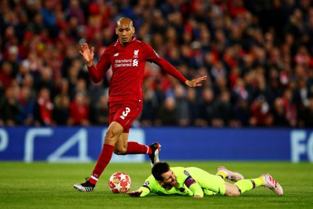 Nice guy Fabinho defends Messi over Anfield demolition criticism - Bóng Đá