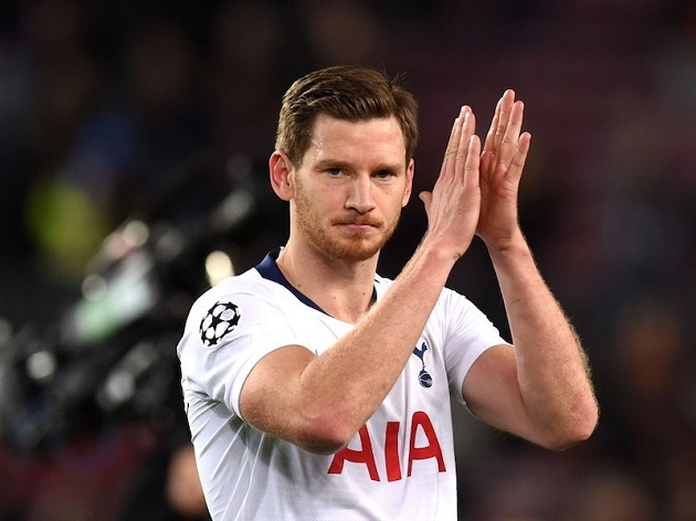 Tottenham 'tell Inter Milan Jan Vertonghen is not for sale in January' as Italian giants plot free summer switch with three-year deal - Bóng Đá