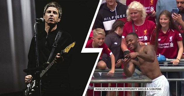 Former Oasis star Noel Gallagher reveals his dream Anfield scenario with Sterling scoring in front of the Kop - Bóng Đá