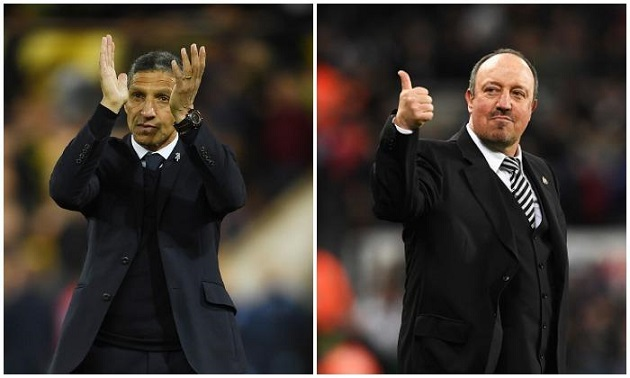 Hughton and Benítez in West Ham frame as pressure grows on Pellegrini - Bóng Đá