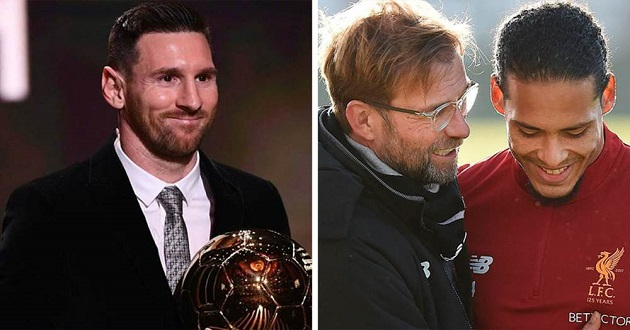 'It would've been right if Virg won it': Klopp on why VVD deserved Ballon d'Or more than Messi - Bóng Đá